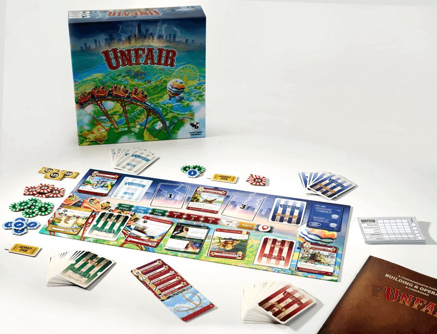 Unfair board game components